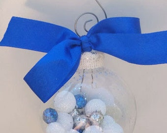 Ice & Snow - Glass Ball Holiday Ornament