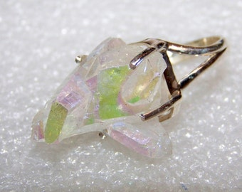 Special Today Opal Aura Quartz From Arkansas Handmade 925 Solid Sterling Silver Ring Size 7 With Free Shipping And 10% Off At Checkout