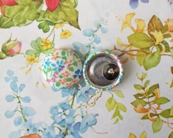 Wholesale Button Earrings / Vintage Floral / Handmade Jewelry / Small Gift Ideas / Hypoallergenic Earrings / Stud Earrings/ Bulk Lot