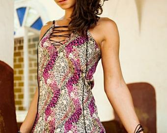 Cami Dress / Short Mini Sexy Dress / Spaghetti Dress / V Neck Dress / Slip Dress / Laced Up Dress / Chemise Dress / A Shape Dress / Dress