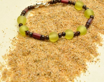 Yellow Olivine Resin Bracelet