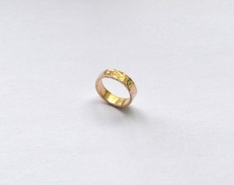 Hammered 14k Gold Ring / 14k Gold Jewelry