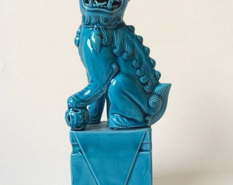 Turquoise Foo Dog Statue, Imperial Dog