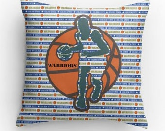 Warriors Basketball Pillows