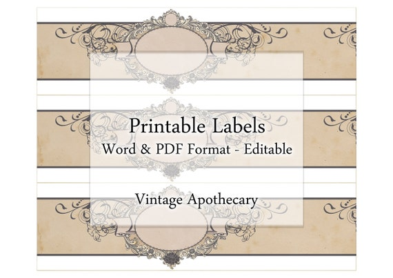 Soap Labels Printable Apothecary Editable Label Band Floral