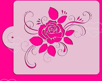 Flower Stencil - 3183 - Cookies, Cupcakes & Cakes Design Decorations