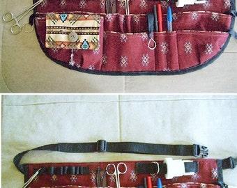 MULTI POCKET APRON/Belt for nurses vendors baristas, made to order