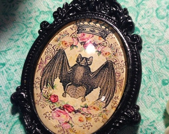 Gothic/Steampunk/Victorian Bat Pendant