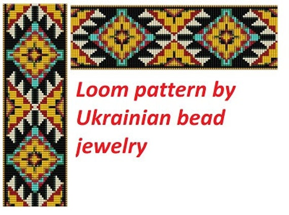 American Tribal Pattern Loom Patterns Native Pattern Cuff