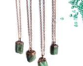 Emerald crystal necklace   Raw emerald necklace   Rough Emerald pendant   Green emerald stone pendant   Rough emerald crystal necklace