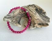 Stretch Bracelet,Beaded Stretch Bracelet,Roll on Bracelet,Festival Bracelet,Pink Stretch Bracelet,