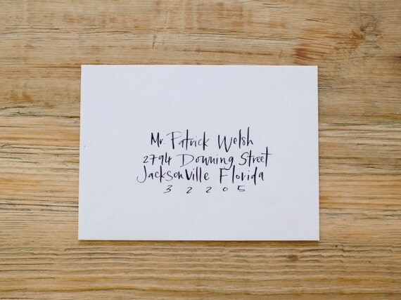 Calligraphy Envelopes Custom Handwritten For Modern