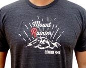 Mens Mount Rainier t-shirt. Washington mountain shirt. Mount R.