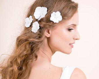 Cherry Blossom Hair Pins Wedding - Bridal Hair Pins Flower - Bridal Hair Piece - Wedding Hair Accessories - Set of 4 hair pins