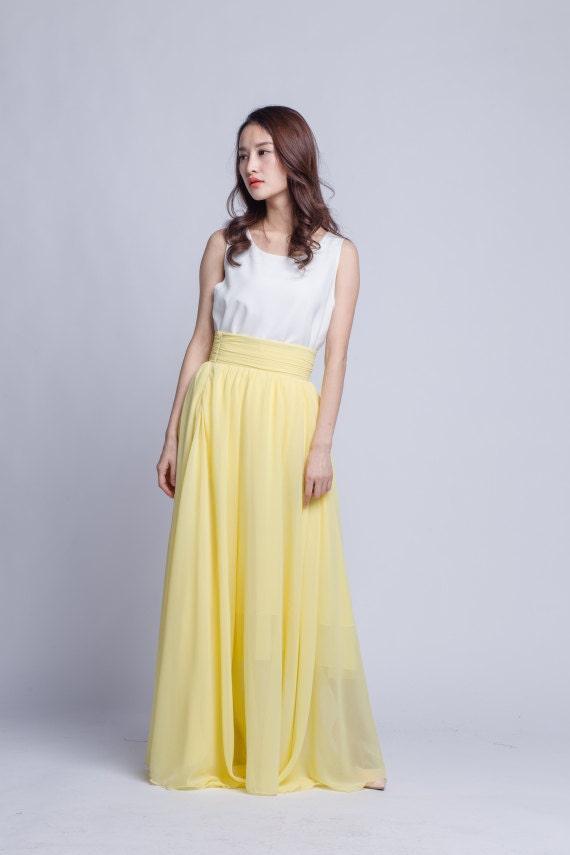 high waist skirt chiffon maxi skirts beautiful pleated