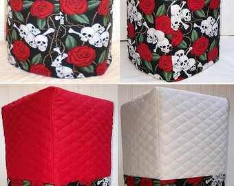 Skulls & Red Roses Bread Machine Cover (4 Options Available)