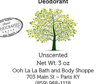 All Natural Unscented Deodorant