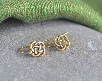 Irish Open Celtic Knot Petite Earrings with Gold Filled Ear wires