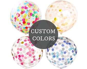 CUSTOM Confetti-Filled Balloons - 17 inch