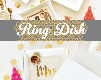 mrs ring dish mrs ring holder bride ring dish jewelry dish ring dish wedding ring dish - Wedding Ring Dish