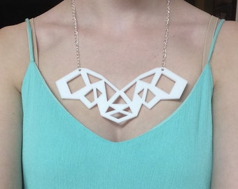 Lion's Head Laser-Cut Acrylic Necklace