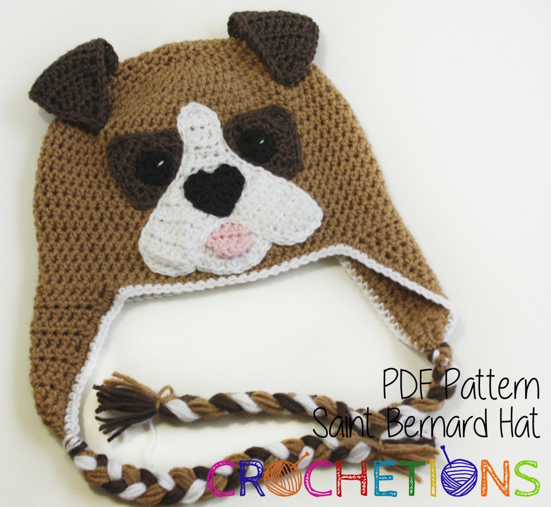 Crochet pattern saint bernard hat dog breed beanie puppy hat this is a digital file bankloansurffo Gallery