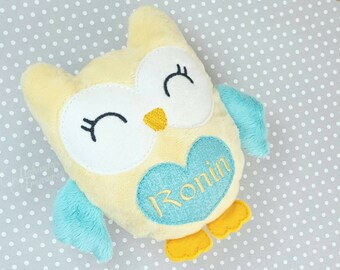 Owl Stuffed Animal, Personalized Stuffed Owl, Cute Stuffed Owl Plush, Kawaii Stuffed Animal, Owl Plushie, Unique Baby Gift Ideas for Boys