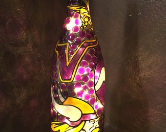 Minnesota Vikings Lighted Wine Bottle