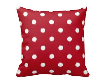 Decorative Throw Pillows Decorative Pillows Red Pillows Red Throw Pillow Cover Polka Dot Pillow Red Cushion Cover Accent Pillow Couch Pillow