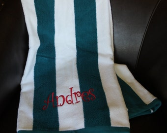 Monogrammed Beach Towel---NEW COLORS--  Great Gift Idea!