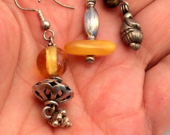 Baltic Amber or Tiger Iron Earrings. free US ship