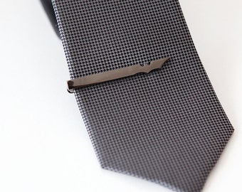 Gunmetal Batman inspired tie clip