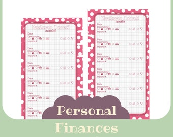 refill finances purchases and sales- Printable - personal size