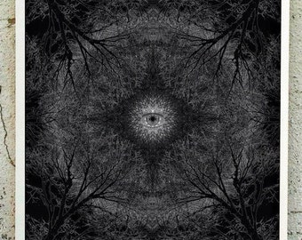 Evil, Forest, Eye, Abduction, new series of geometric illustration....