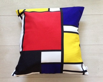 Beautiful 80s style Geometric Print Cushion Cover