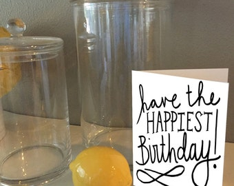 Have the Happiest Birthday! : Hand-Lettered Birthday Cards