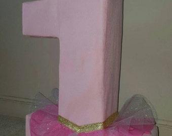 Number Tutu Ballerina Princess Pinata