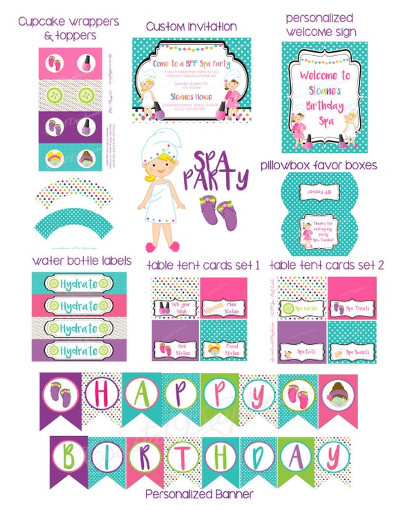 photo relating to Spa Party Printable identify spa social gathering printable freebies