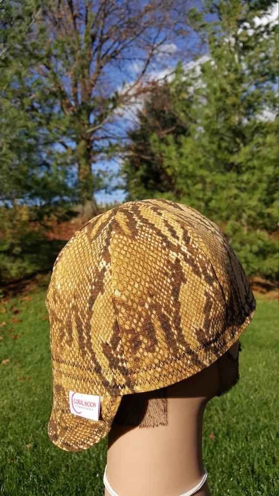 Snake Skin Baseball Hat Welding Cap Hard Hat Helmet Liner