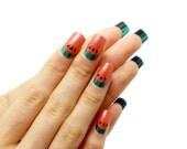 Watermelon Gel Nails / Fake nails, press on nails, gift women, party, birthday, fruit, jewelry, girlfriend, glue on nails, sweet, kawaii