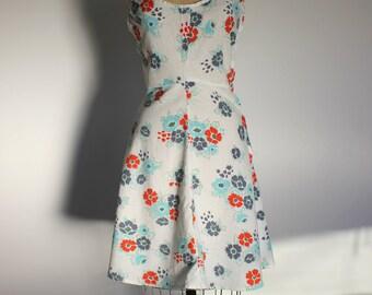 1970s Floral Cotton Sundress