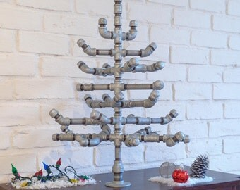 Industrial Christmas Tree with Crate