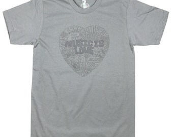 Music Is Love: ORGANIC Cotton American Apparel Mens Tee