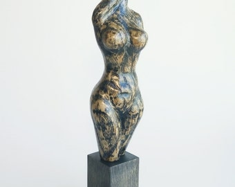 Woman Sculpture,Wooden Statuette,Naked Woman,Wood Art,Handmade Gift,Home Decoratin,Carving,Wood Carving by Yurii Myketka.