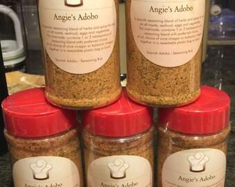 Angie's Adobo Gourmet Seasoning Rub  ****(10 oz. sent in keepsake Angie's Adobo Jar)**** NOW made with SEA SALT
