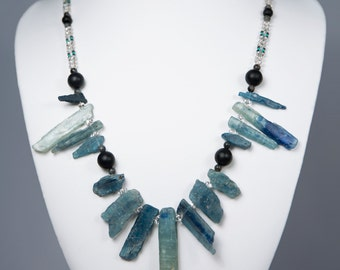 The Gateway, Necklace with Blue Kyanite Blades