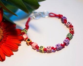Red Paracord Bulldog Bracelet