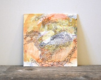 "unique abstract art: ""el desierto,"" original mixed-media painting"