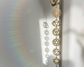 OM Chakra Crystal window hanger, your choice of crystal, meditation room, decoration