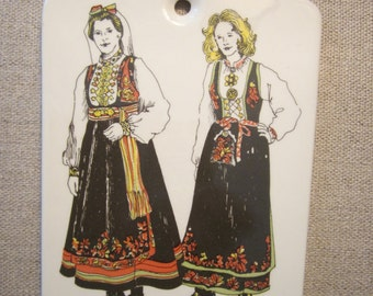 Stavangerflint Norway Trivet or Wall Hanging - Norwegian Costume - Telemark Norge - 3139 - 569